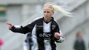 Caroline Thorpe scored a hat-trick for Waves