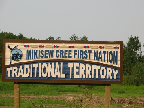Entrance to the Reservation of the Mikisew First Nation Traditional Territory just outside Fort Chipewyan
