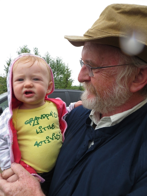 Dr. O'Connor and his granddaughter Quinn