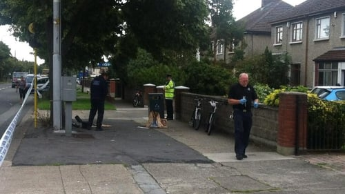The scene on Glasnevin Avenue was examined by a garda forensic team