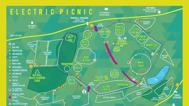 Electric Picnic Site Map