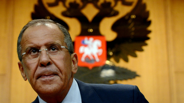 Sergei Lavrov warned against any military intervention in Syria without a UN mandate