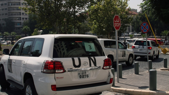 UN inspection teams are investigating alleged chemical weapons attack in Damascus