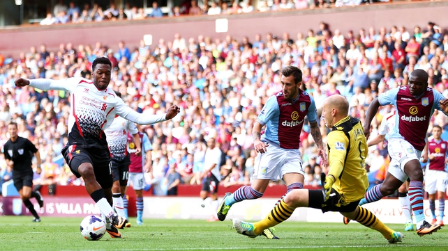 Daniel Sturridge slots home Liverpool's winner at Villa Park