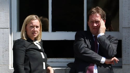 Former junior minister Lucinda Creighton and her husband Senator Paul Bradford lost the Fine Gael party whip