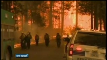 Efforts to contain Californian wildfire
