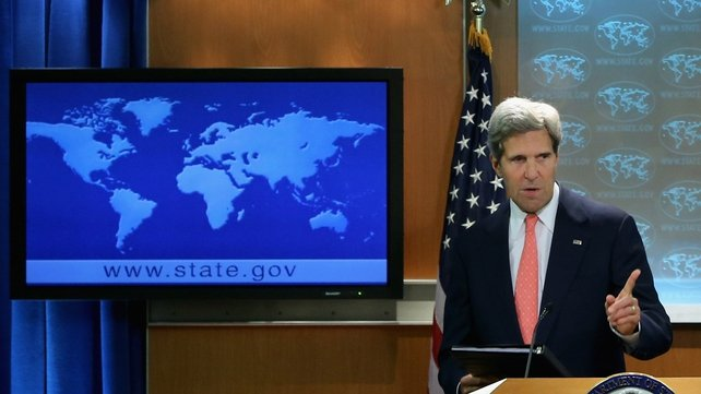 John Kerry said the Syrian government has something to hide