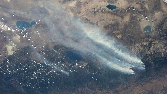NASA astronaut Karen Nyberg tweeted an image of the fire from the International Space Station (Pic: @AstroKarenN)