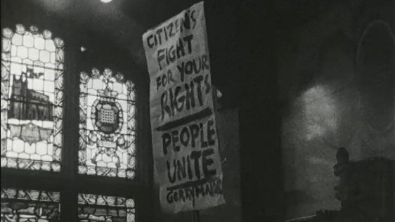 Housing Protest at Guildhall 1968