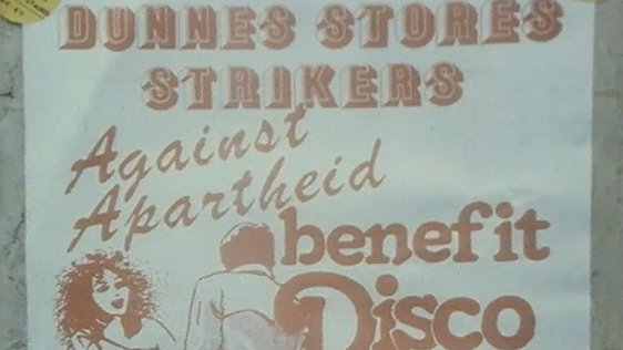 Placard for Dunnes Strike