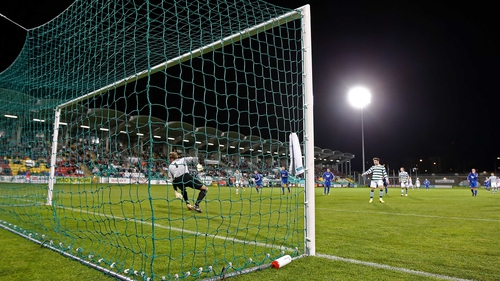 Non-league side Sheriff YC were knocked out of the Cup by Shamrock Rovers