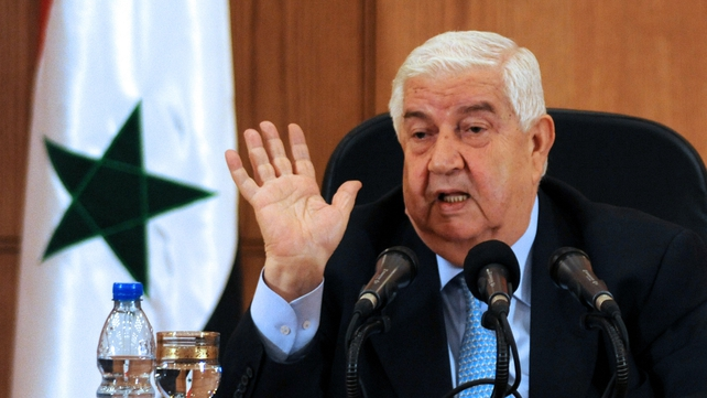 Walid al-Moualem called Western leaders 'delusional'
