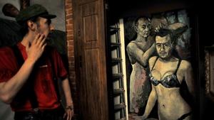 Artist Konstantin Altunin portrayed Vladimir Putin and Dmitry Medvedev in women's underwear