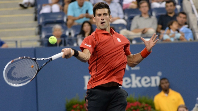Novak Djokovic made short work of his first round match with Ricardas Berankis