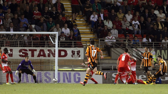 Robbie Brady (r) scored his second goal in two games as Hull beat Leyton Orient