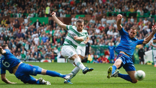 Celtic's Adam Matthews levels the game