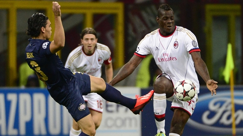 Mario Balotelli was among the goals as Milan advanced