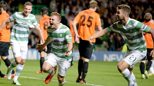 Celtic recorded a remarkable 3-0 second leg victory over Shakhter Karagandy to progress to the group stages