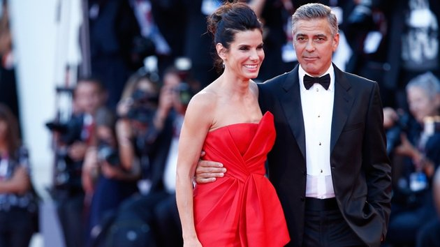 Bullock and Clooney at the Venice Film Festival
