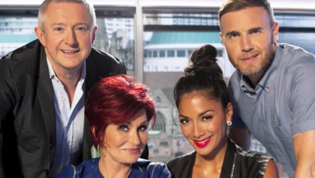 The X Factor judges: Louis Walsh, Sharon Osbourne, Nicole Scherzinger and Gary Barlow.