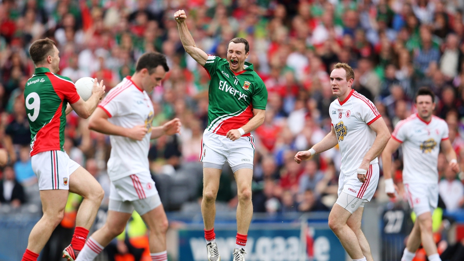 Mayo players celebrate after Sunday's All-Ireland semi final win over Tyrone