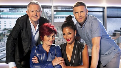 X Factor Judges Louis Walsh, Sharon Osbourne, Nicole Scherzinger and Gary Barlow