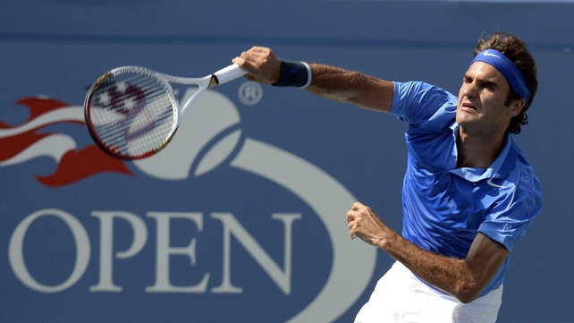 Roger Federer has won both his matches at Flushing Meadows in straight sets