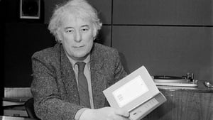 He first came to public attention in the mid-1960s. He is pictured here with a copy of his book 'The Haw Lantern' shortly after it was published in 1987 (Pic: RTÉ Stills Library)