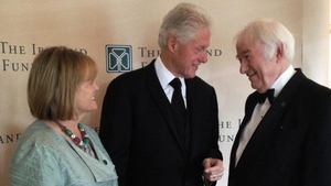 Former US president Bill Clinton tweeted this picture of him and the poet after hearing of his death