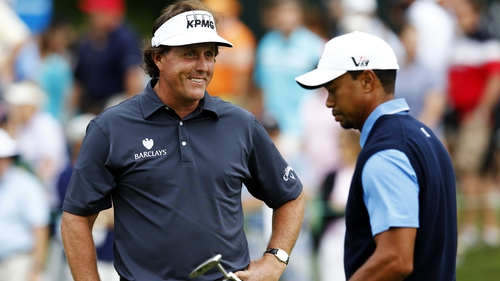 Phil Mickelson had more to smile about than Tiger Woods after the opening round