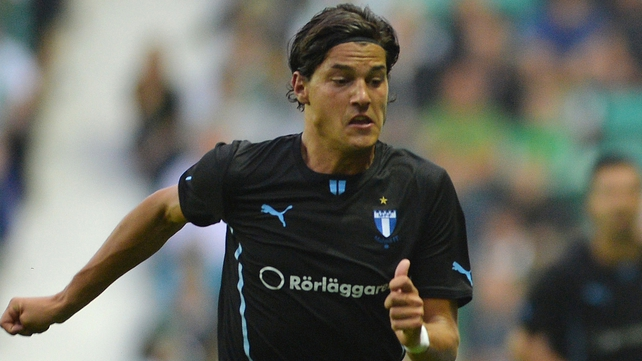 Miiko Albornoz in action for Malmo