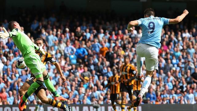 Alvaro Negredo's headed goal put City in front