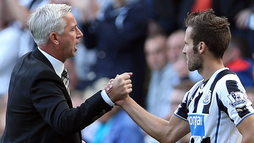 Alan Pardew is doing all he can to hold onto Yohan Cabaye