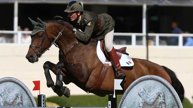 Captain Michael Kelly and the Irish Sport Horse Annestown had one pole down in each round