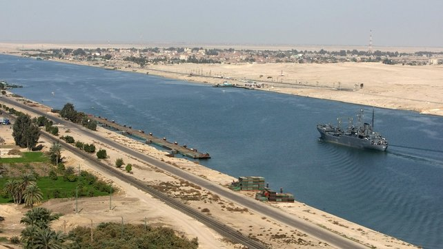 The Suez Canal is a key global shipping line