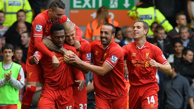 Daniel Sturridge put Liverpool ahead in the fourth minute