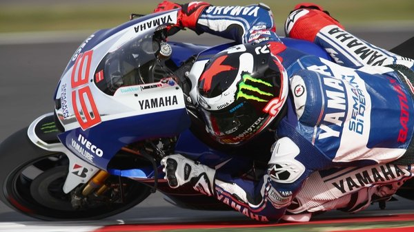 Jorge Lorenzo of Spain and Yamaha Factory Racing took the checkered flag