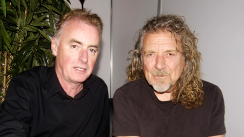 Dave Fanning with Robert Plant at Electric Picnic last night