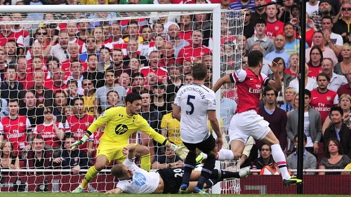 Olivier Giroud was on target for the Gunners