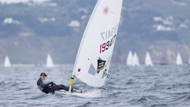 Annalise Murphy enjoying familiar conditions in Dublin Bay