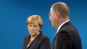 Angela Merkel and Peer Steinbrueck went head-to-head in a televised debate