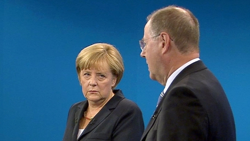 Angela Merkel and Peer Steinbrueck went head-to-head in a televised debate