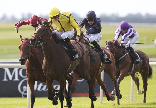 Rizeena landed last season's Group One Moyglare Stud Stakes at the Curragh