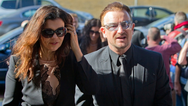 Bono and his wife Ali Hewson were among those from the world of music and entertainment