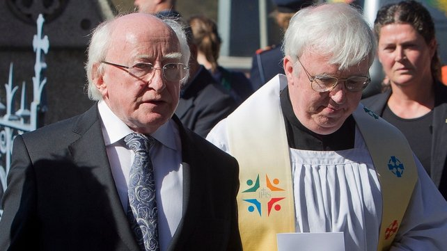 President Michael D Higgins was among the mourners