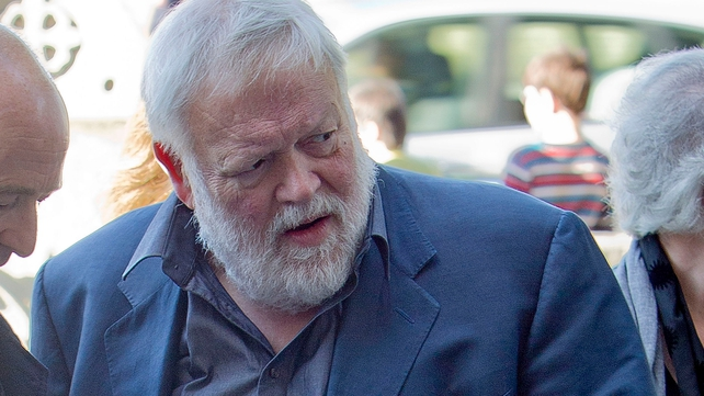 Poet Michael Longley attended the funeral mass