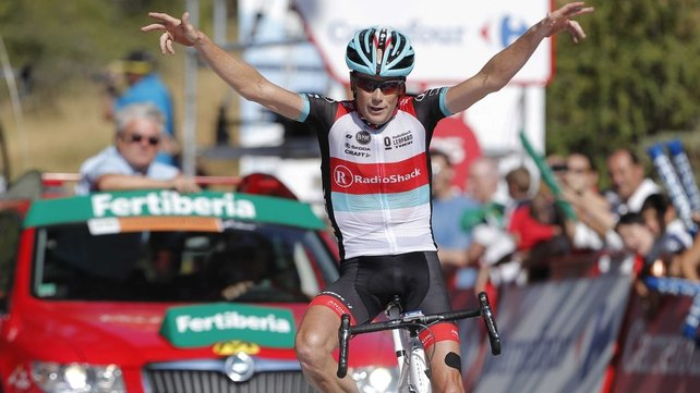Nicolas Roche trails Vuelta leader Chris Horner by 53 seconds