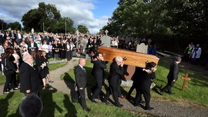 Seamus Heaney was buried next to his brother Christopher