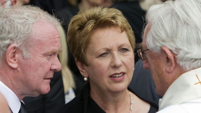 Former President Mary McAleese attend the funeral