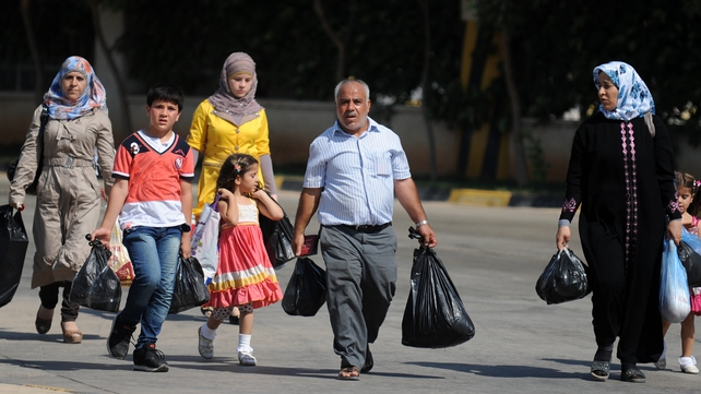 The number of people fleeing Syria has risen almost ten-fold in a year